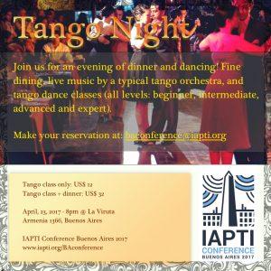 IAPTI Tango night